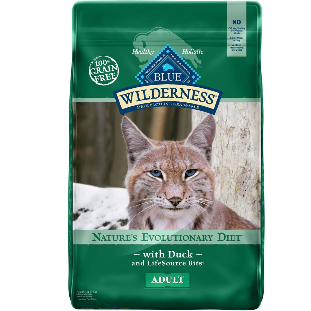 Blue Buffalo Wilderness Grain For Cats - Free Duck Recipe For Cats - 11 Lb - From Entirely Pets