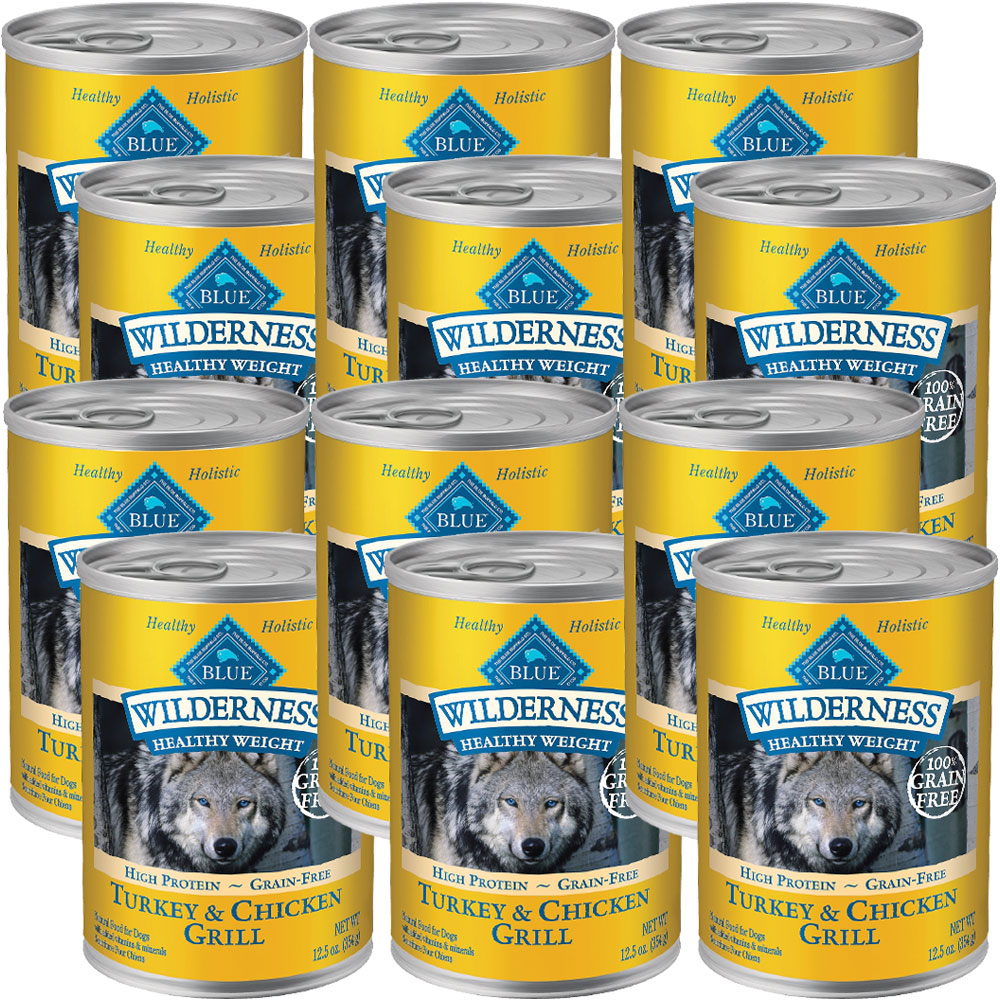 BLUE-BUFFALO-WILDERNESS-HEALTHY-WEIGHT-TURKEY-CHICKEN-GRILL-DOG-FOOD-12X12-5OZ