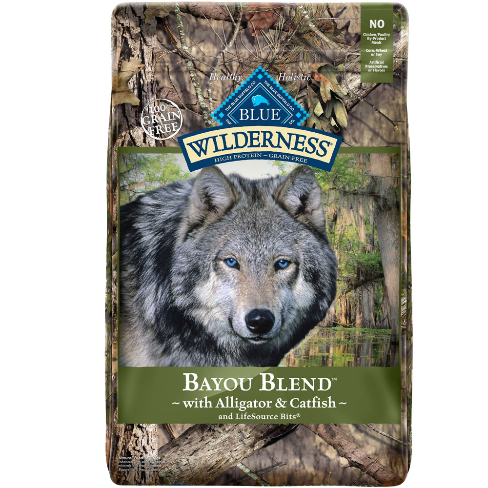 BLUE-BUFFALO-WILDERNESS-BAYOU-BLEND-ALLIGATOR-CATFISH-DOG-FOOD-22LB