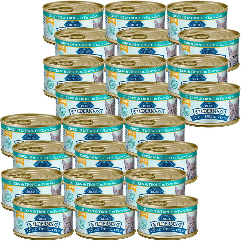 BLUE-BUFFALO-WILDERNESS-WILD-DELIGHTS-FLAKED-CHICKEN-TROUT-CAT-FOOD-24X3OZ