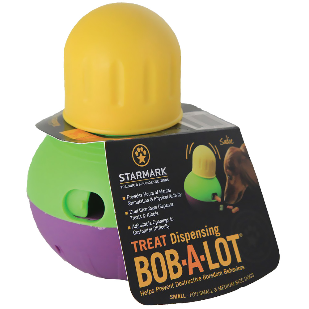 Bob-A-Lot Multi Chambered Interactive Dog Toy - Small