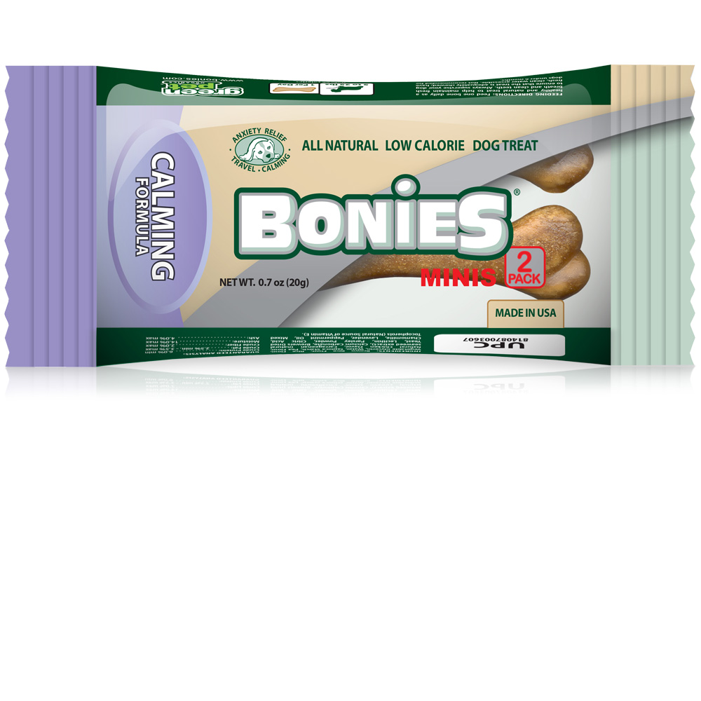 Image of Pet Health Solutions BONIES® Natural Calming Formula MINIS 2 BONE Pack - 0.7 oz - For Dogs - from EntirelyPets