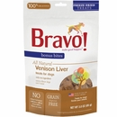 Bravo Bonus Bites Freeze Dried Venison Liver Dog Treats (3 oz)