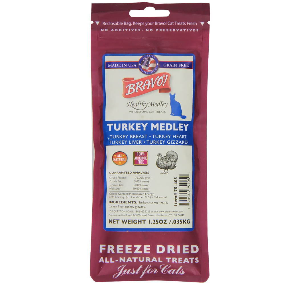 Image of Bravo! Healthy Medley Turkey for Cats (1.25 oz)