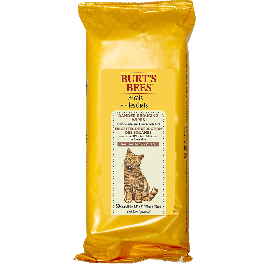 Image of Burt's Bees Dander Reducing Wipes for Cats (50 count)