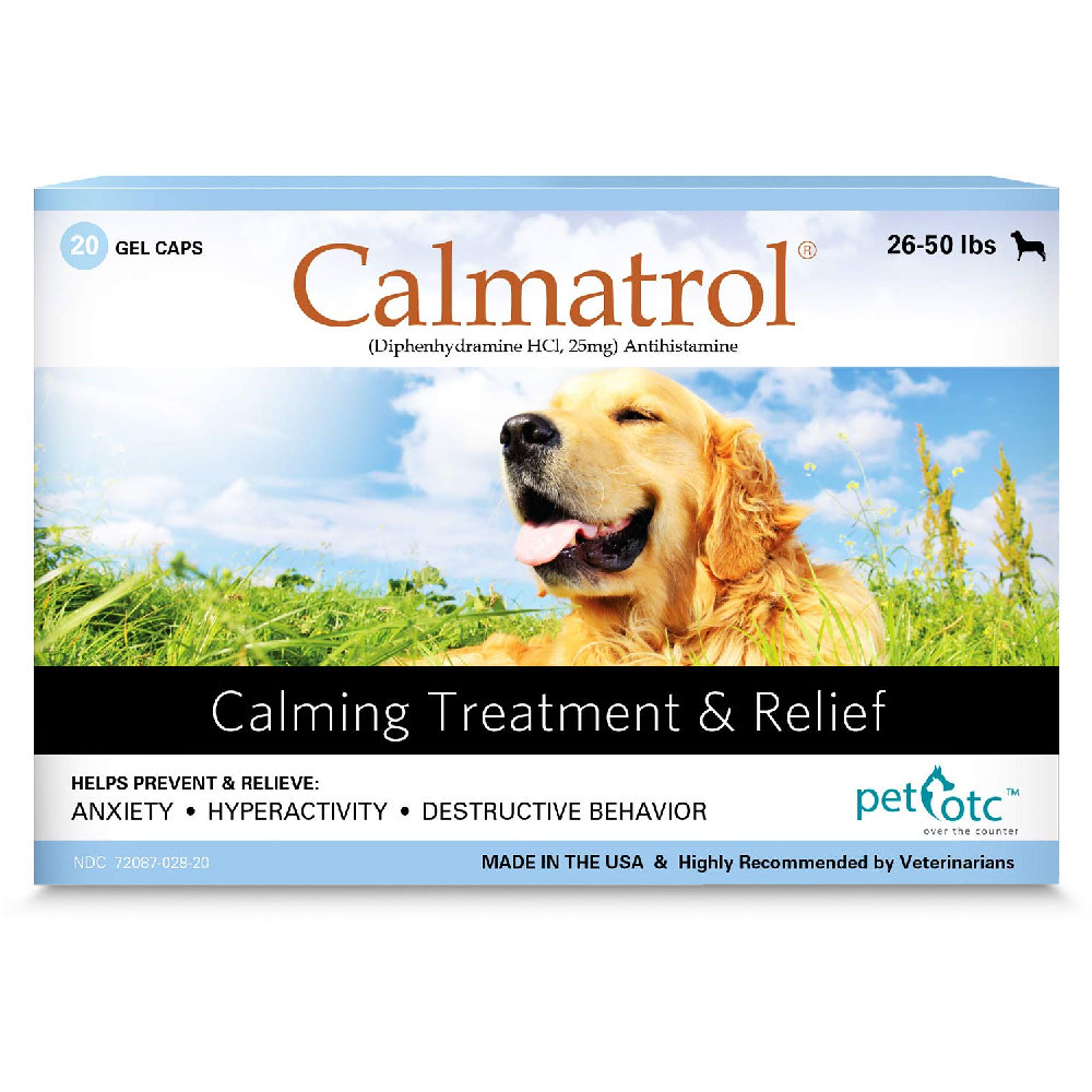 Calmatrol Calming Treatment & Relief 26-50 lbs (20 capsules) im test
