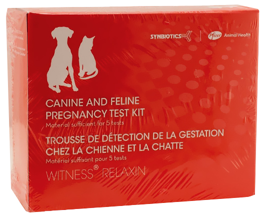 Witness Relaxin Canine and Feline Pregnancy Test Kit (5 tests) im test