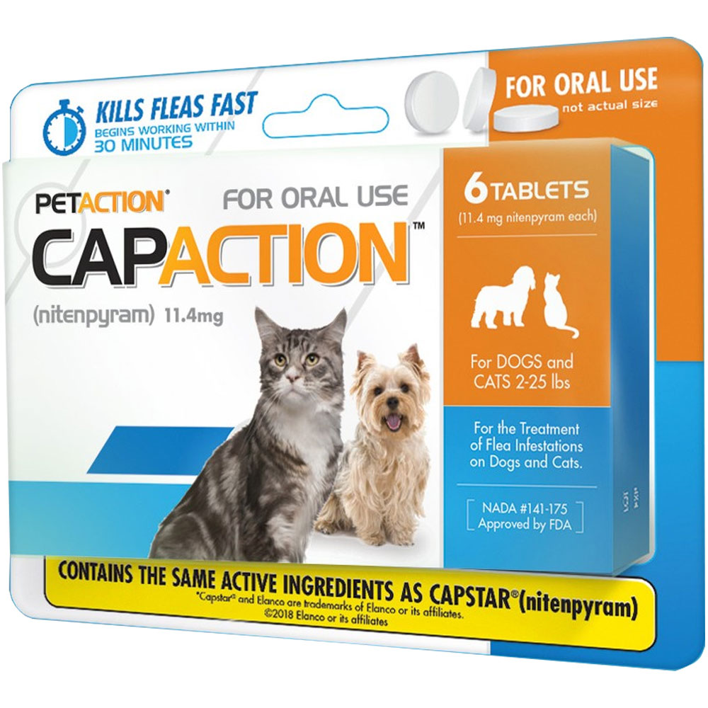 CapAction for Cats 11.4mg (2-25 lbs) - 6 Tablets im test