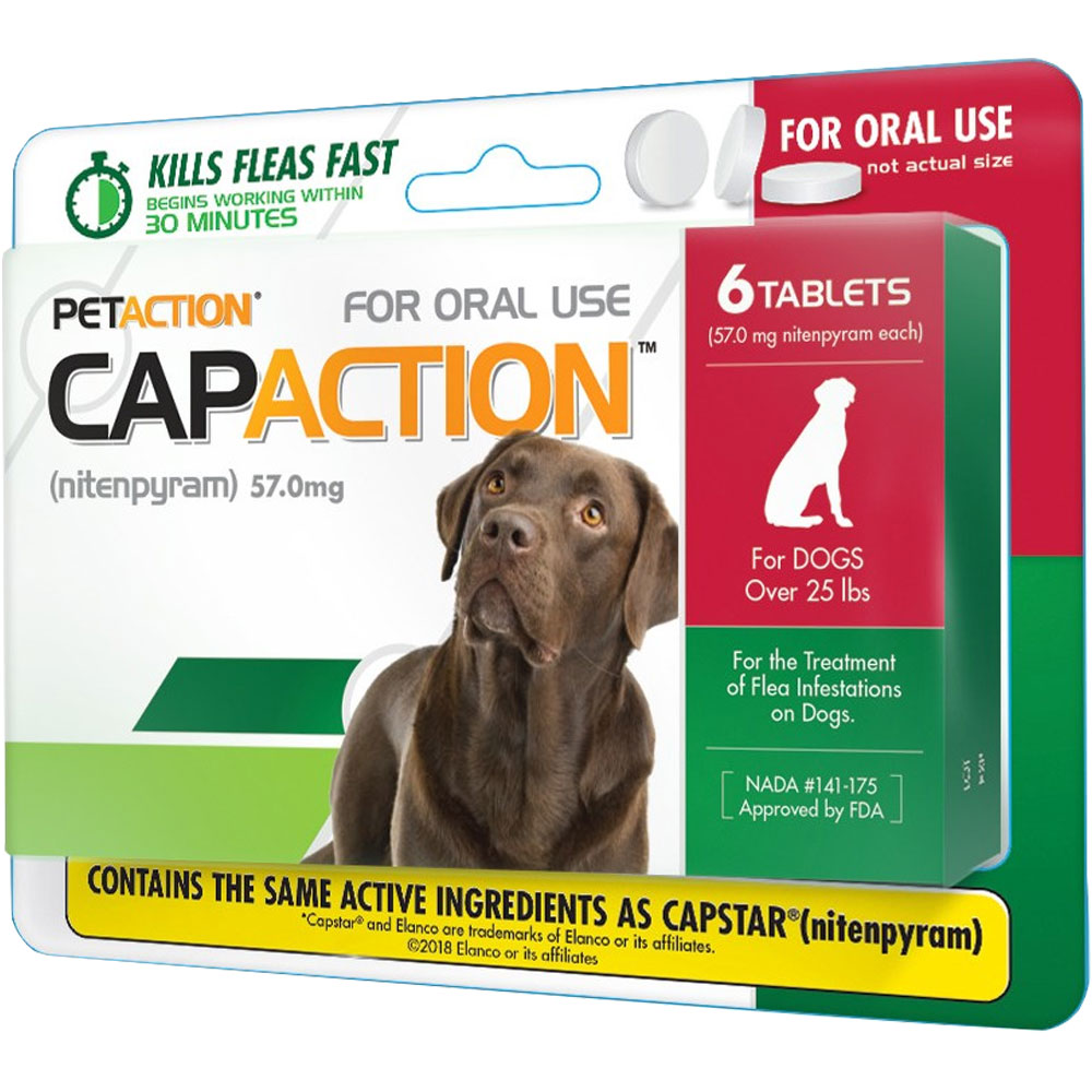 CapAction for Dogs 57mg (over 25 lbs) - 6 Tablets im test