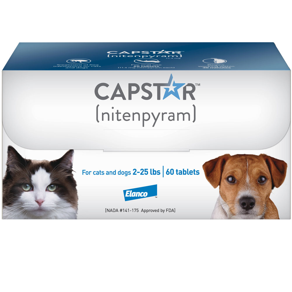Capstar Flea Control for Dogs & Cats 2-25 lbs (60 Tablets)