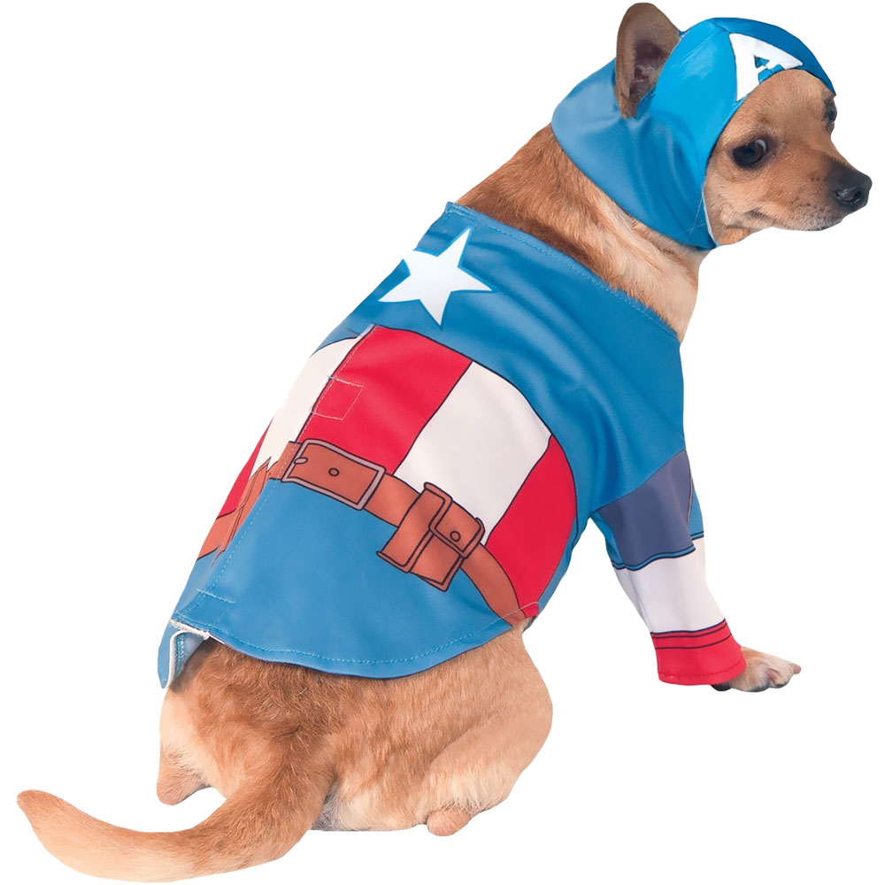 Image of Rubie's Captain America Dog Costume - Small from Entirely Pets