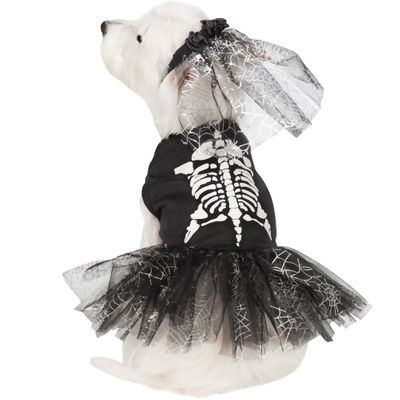 Casual Canine Glow Skeleton Zombie Dog Costume - Medium