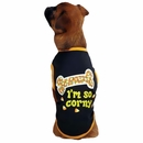 Casual Canine I'm So Corny Tee Black - SMALL