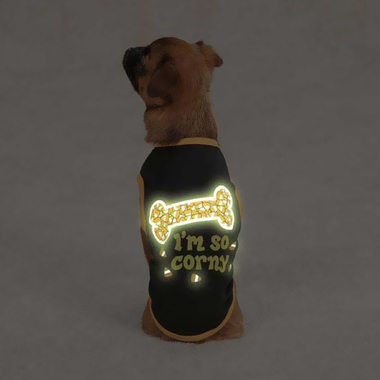 CASUAL-CANINE-IM-SO-CORNY-TEE-BLACK-SMALL-MEDIUM