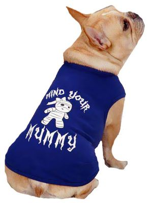Casual Canine Mind Your Mummy Tee Blue - SMALL