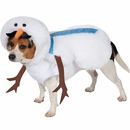Casual Canine Mustache Snowman Dog Costume - Small