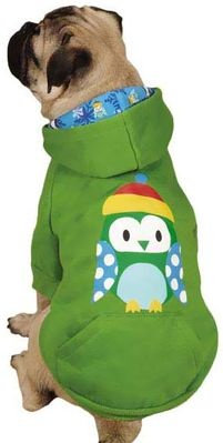 Casual Canine North Pole Pals Hoodie Owl - LARGE