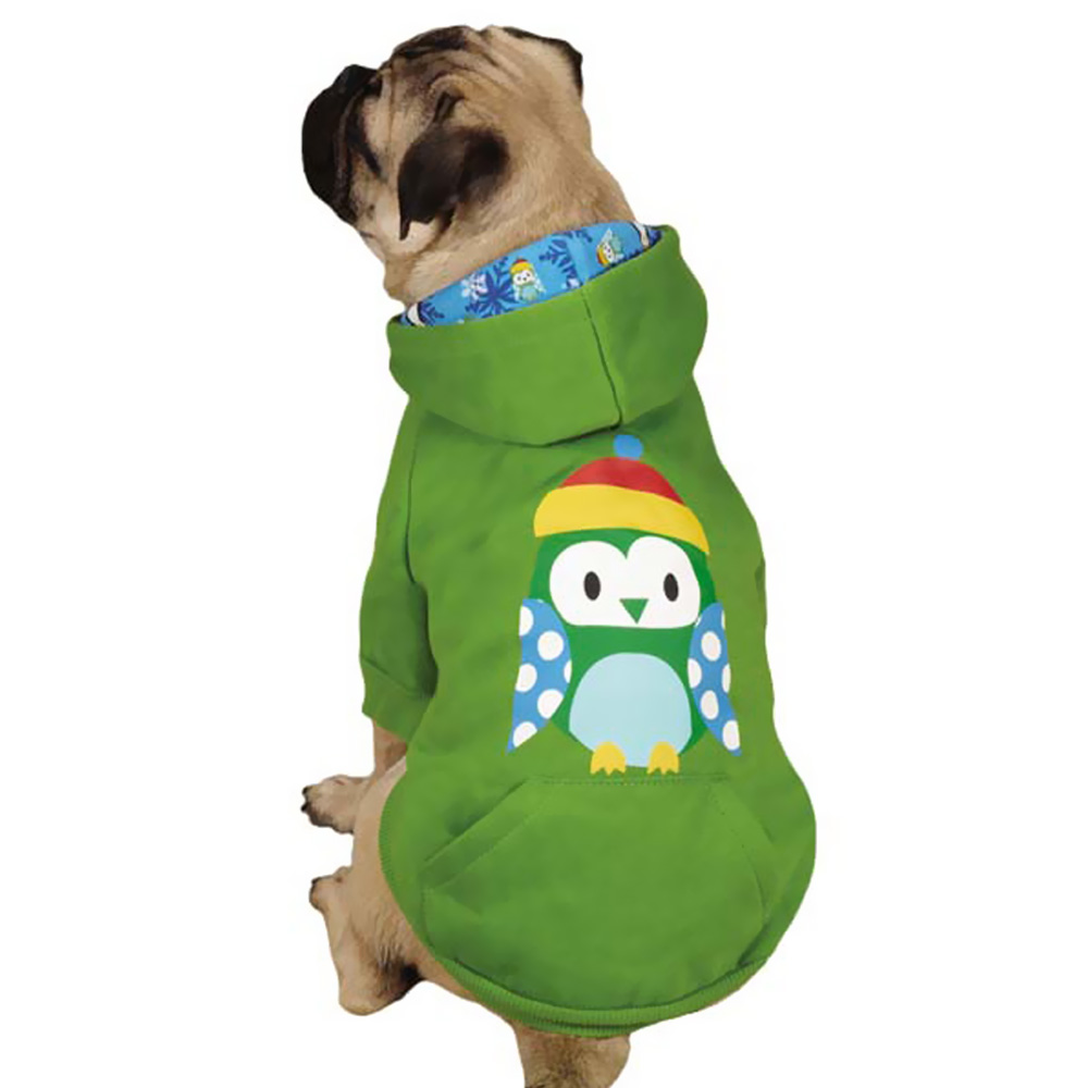 CASUAL-CANINE-NORTH-POLE-PALS-HOODIE-OWL-X-SMALL