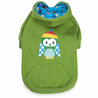 CASUAL-CANINE-NORTH-POLE-PALS-HOODIE-OWL-XX-SMALL