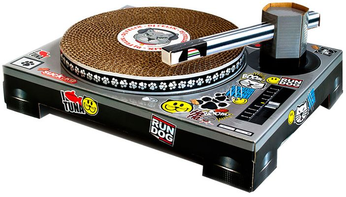 Image of Suck UK Cat DJ Scratching Deck from EntirelyPets
