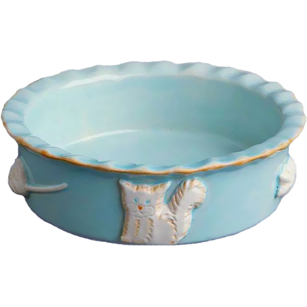 Image of Cat Food/Water Bowl - Small Sky Blue