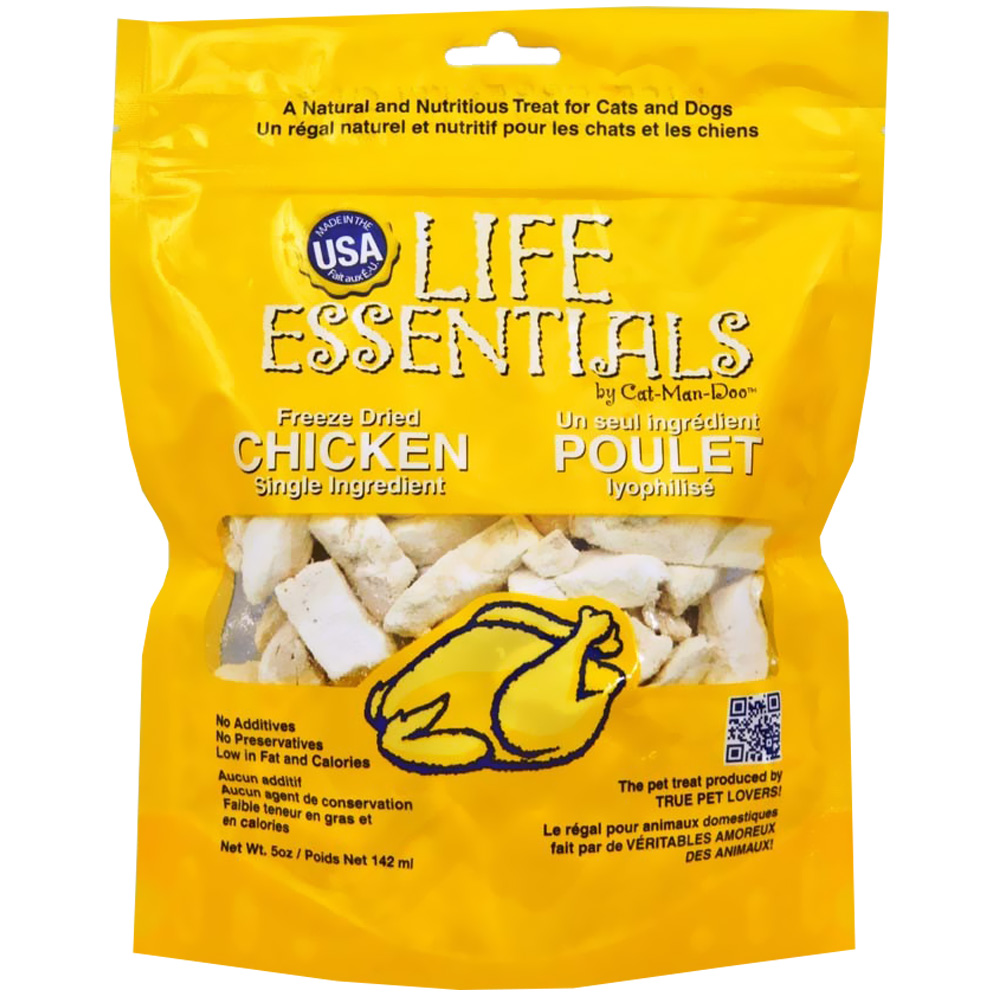 Image of Cat-Man-Doo Life Essentials Freeze Dried Chicken (5 oz)