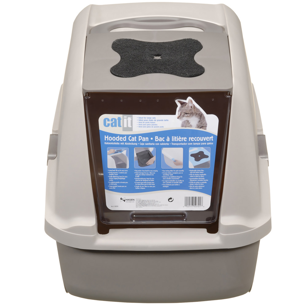 CATIT-HOODED-CAT-LITTER-PAN-GREY