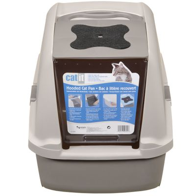 Catit Hooded Cat Litter Pan - Grey