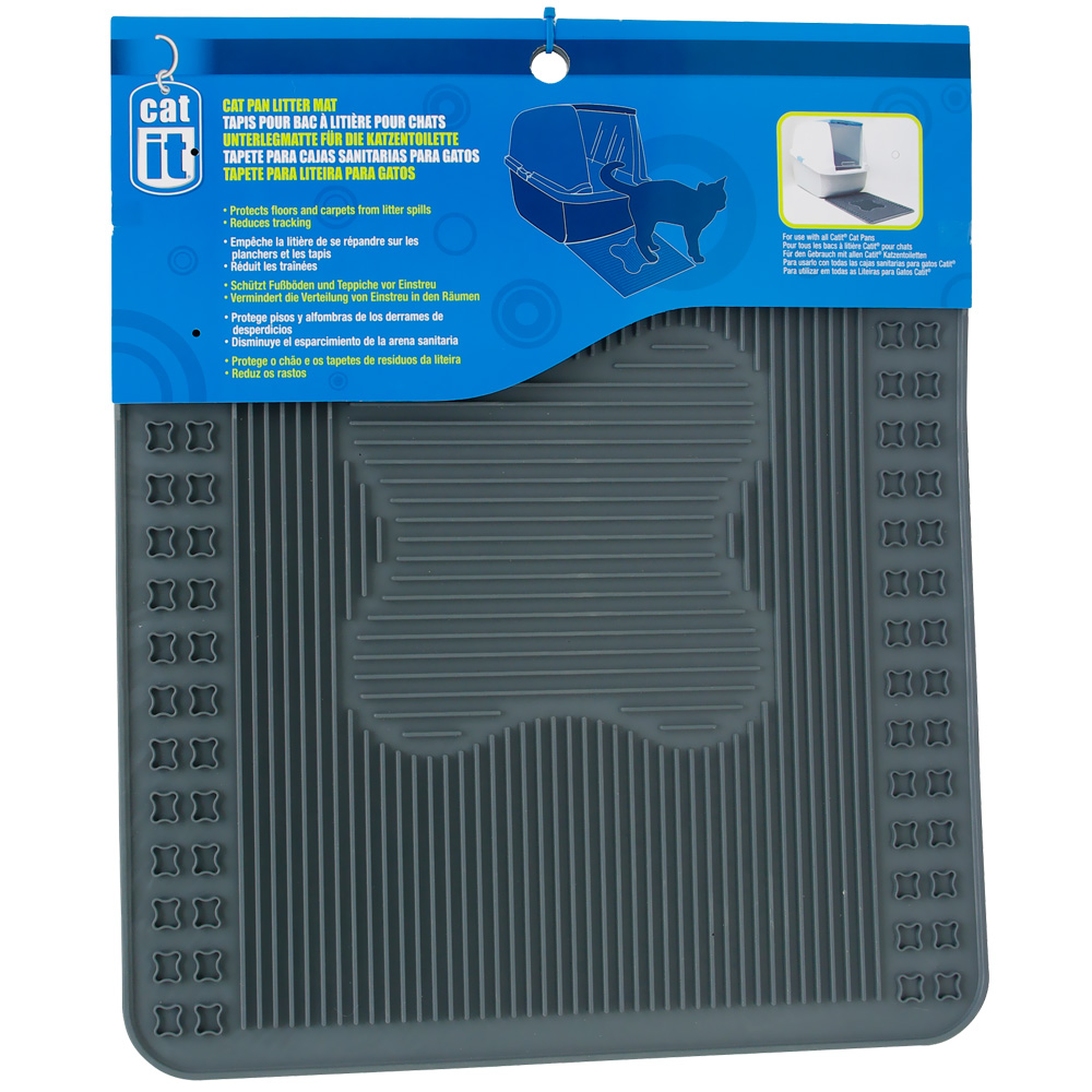 Catit Litter Pan Mat - Grey from EntirelyPets