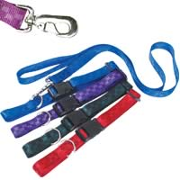 Checkered Nylon Collars and Leashes