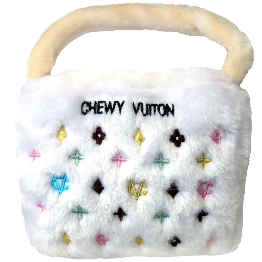 Chewy Vuiton Purse Toy (White) - Large im test