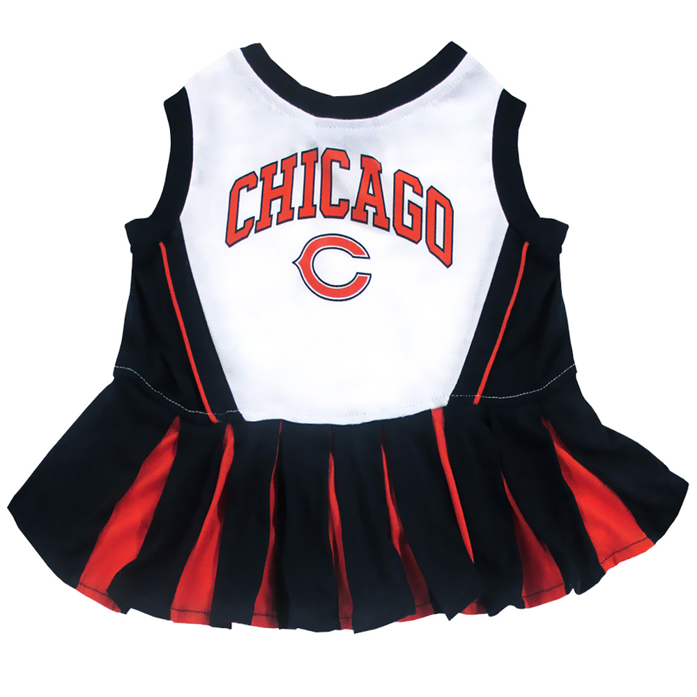 separation shoes 184ab 9942f Chicago Bears Cheerleader Dog Dress - Small