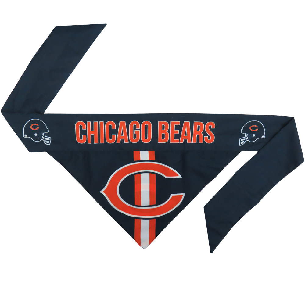 Image of Chicago Bears Dog Bandana - Tie On - Large - from EntirelyPets