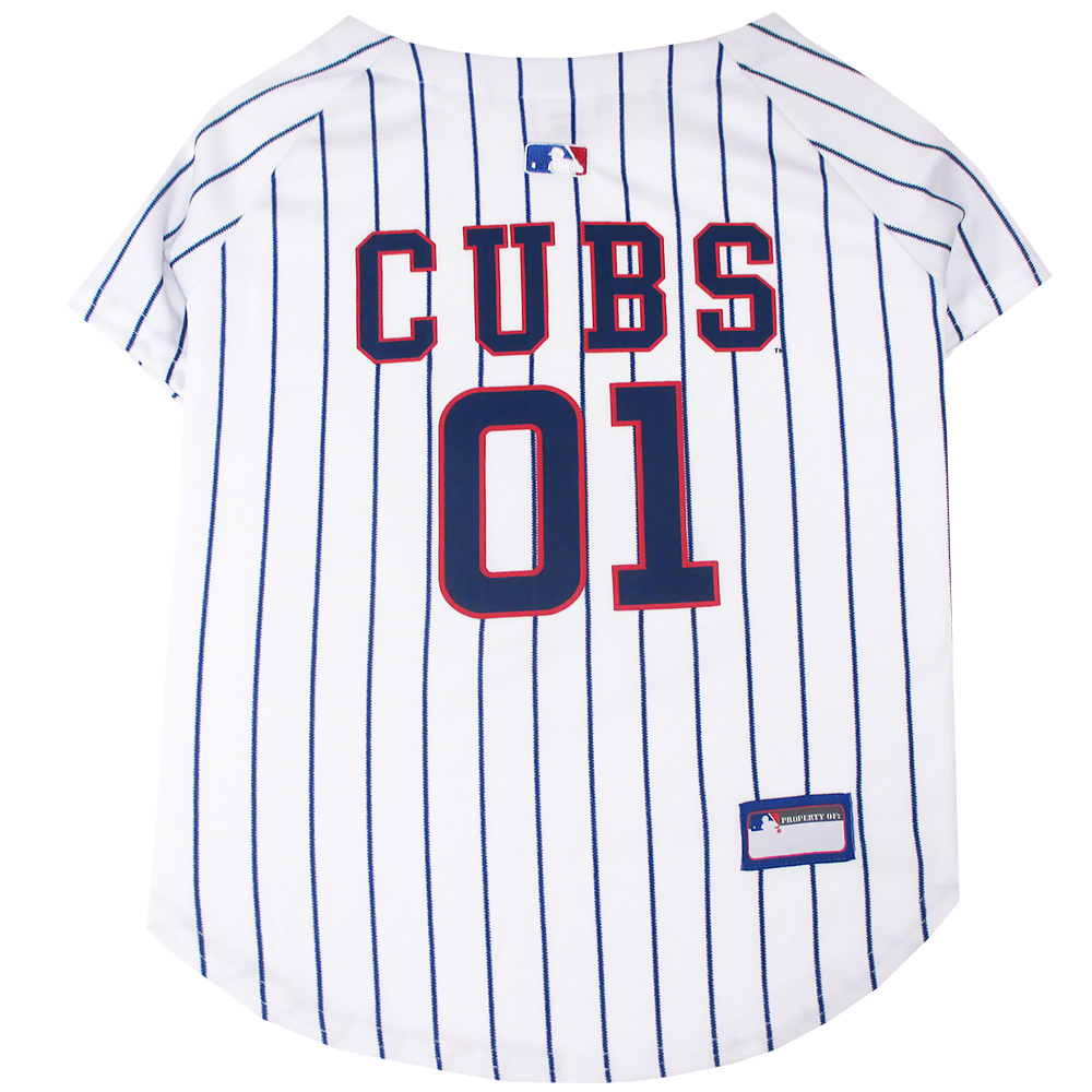 Image of Chicago Cubs Dog Jersey - Small from EntirelyPets