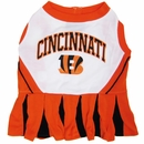 Cincinnati Bengals Cheerleader Dog Dress - Medium