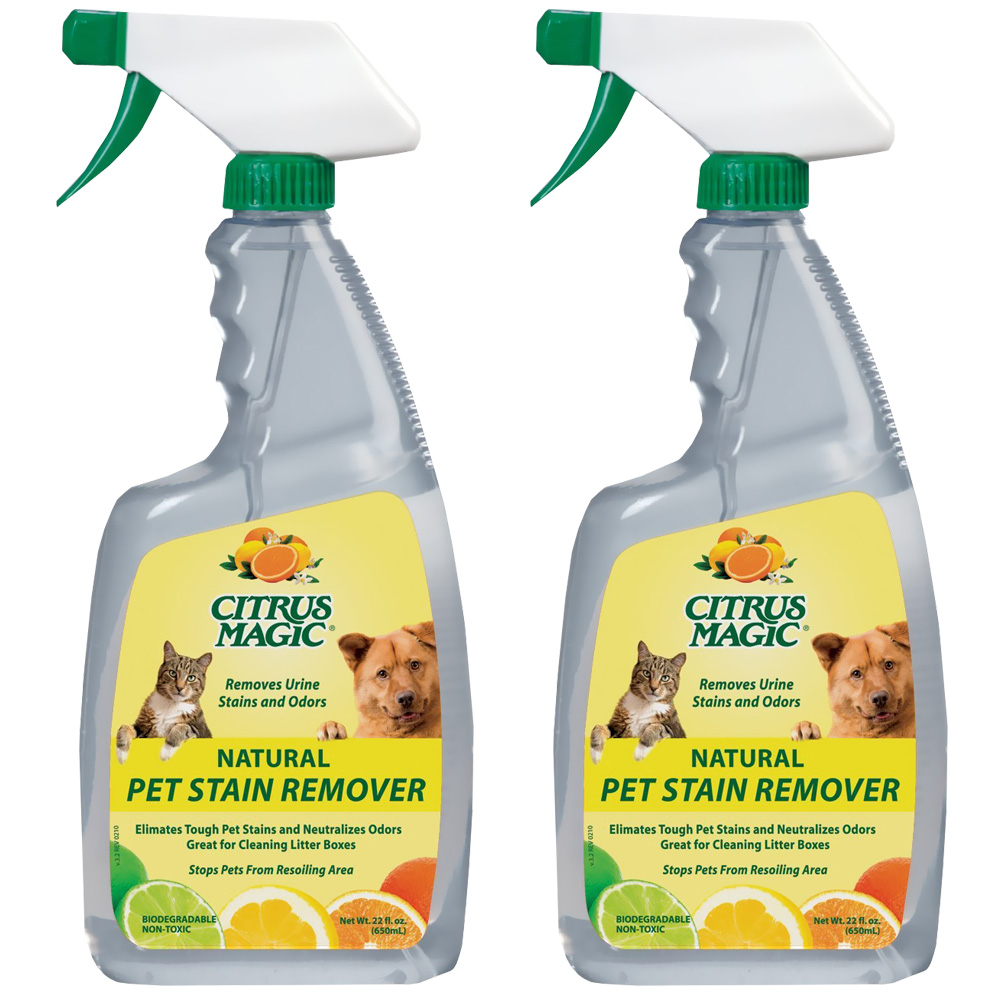 Citrus Magic 2 - Pack Pet Stain Remover Spray - 22 oz - from EntirelyPets