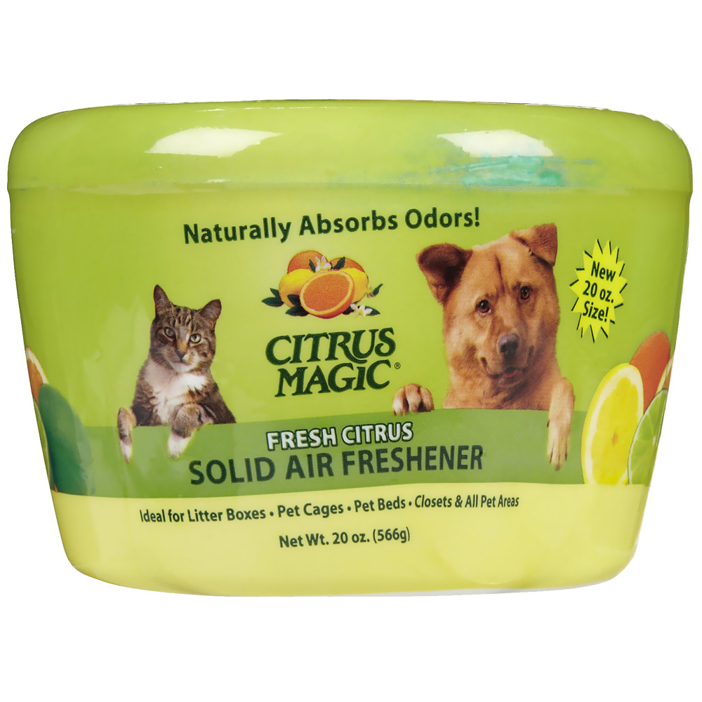 Citrus Magic Pet Odor Absorbing Solid Air Freshener - Fresh Citrus - 20 oz - from EntirelyPets
