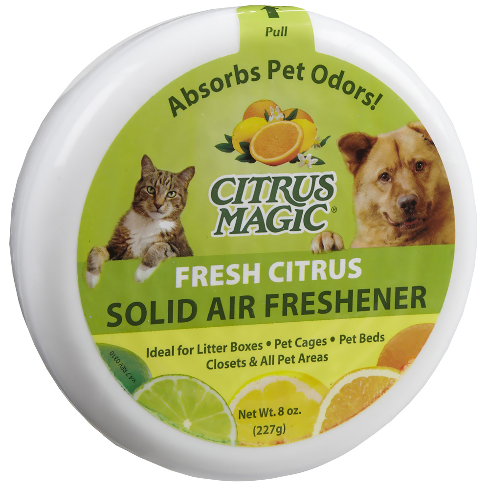 Citrus Magic Pet Odor Absorbing Solid Air Freshener - Fresh Citrus - 8 oz - from EntirelyPets