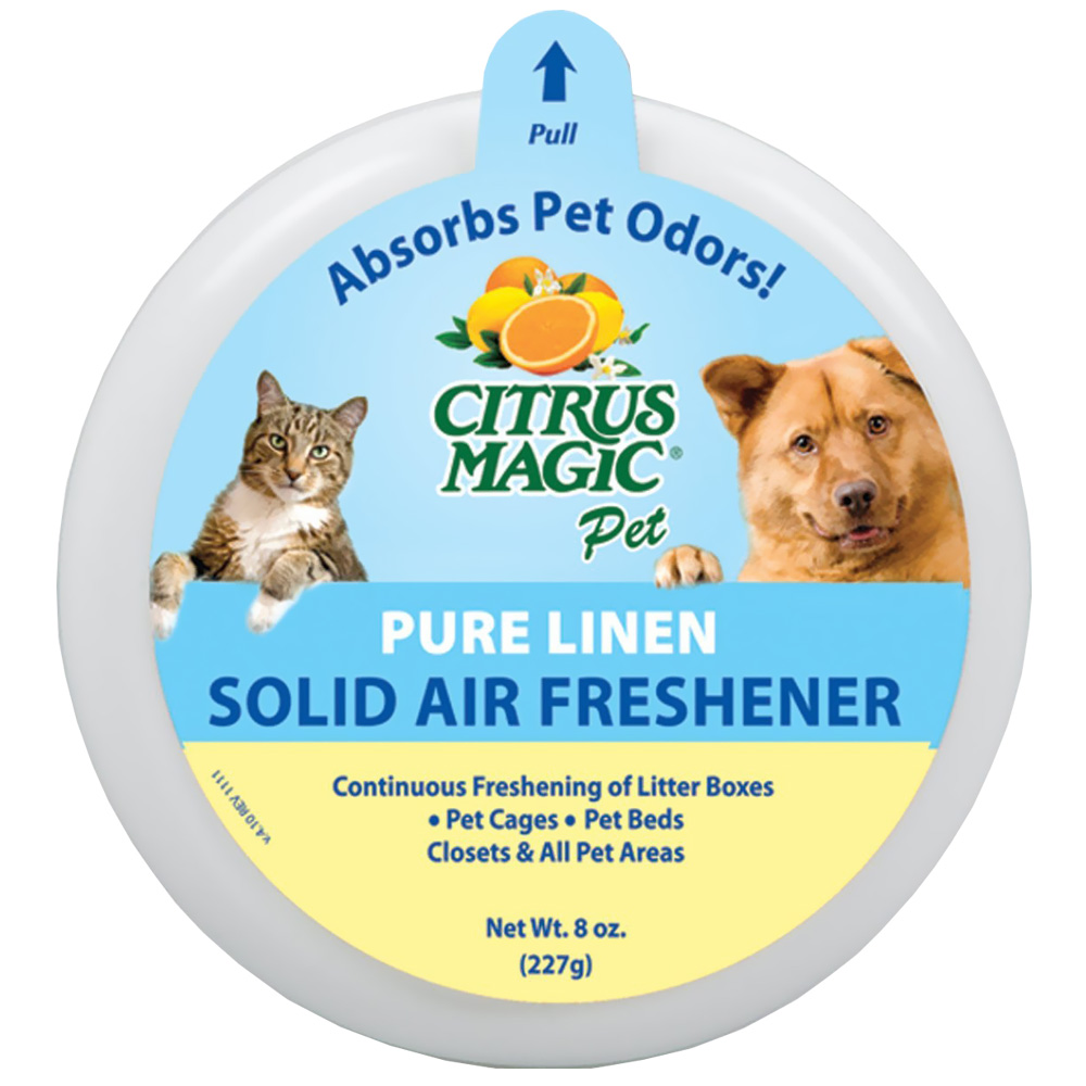 Citrus Magic Pet Odor Absorbing Solid Air Freshener - Pure Linen - 8 oz - from EntirelyPets