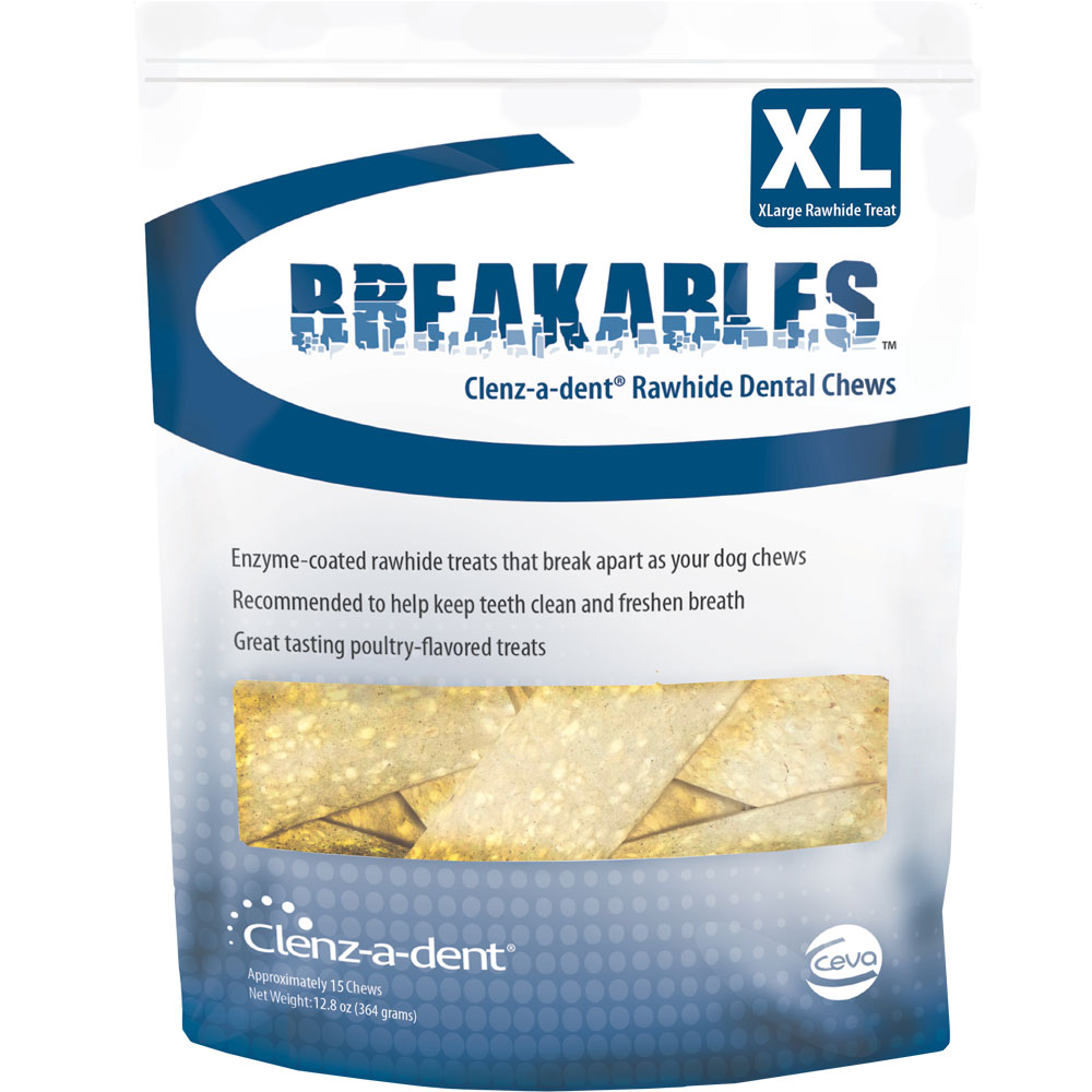 Clenz-a-dent Breakables Dental Rawhide Chews - X-Large (15 count) im test
