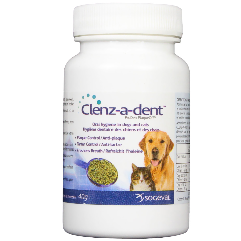 CLENZ-A-DENT ProDen PlaqueOff Oral Health Flakes 40 gm im test