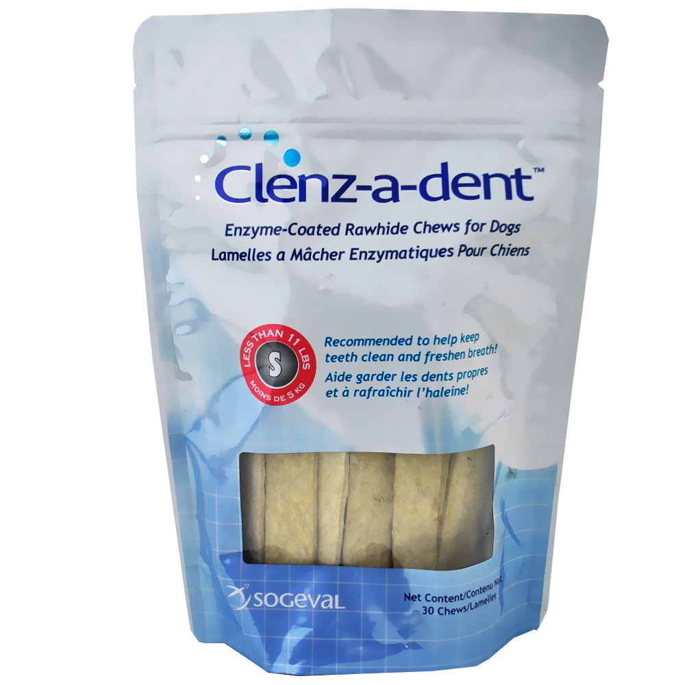 CLENZ-A-DENT-RAWHIDE-CHEWS-DOGS-SMALL-30-CT