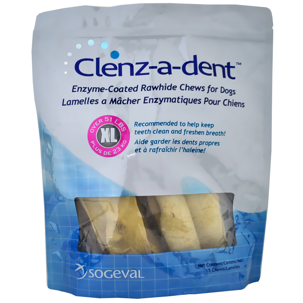 CLENZ-A-DENT Rawhide Chews Extra Large 15ct im test