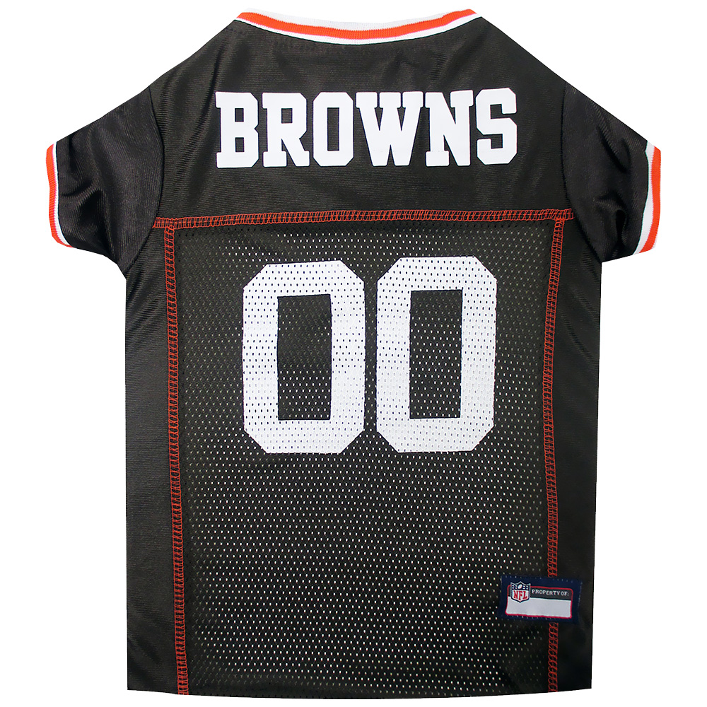 Image of Cleveland Browns Dog Jersey - X-Small from EntirelyPets