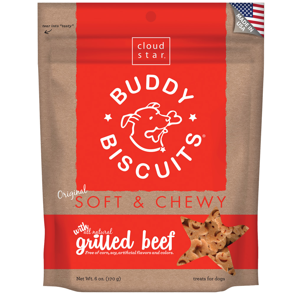 Cloud Star Buddy Biscuits Soft & Chewy Dog Treats - Grilled Beef Flavor (6 oz) im test