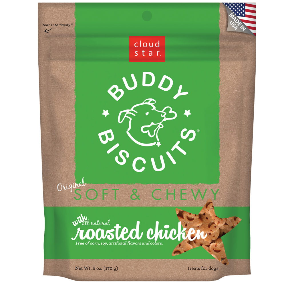 Image of Cloud Star Buddy Biscuits Soft & Chewy Dog Treats - Roasted Chicken Flavor (6 oz)
