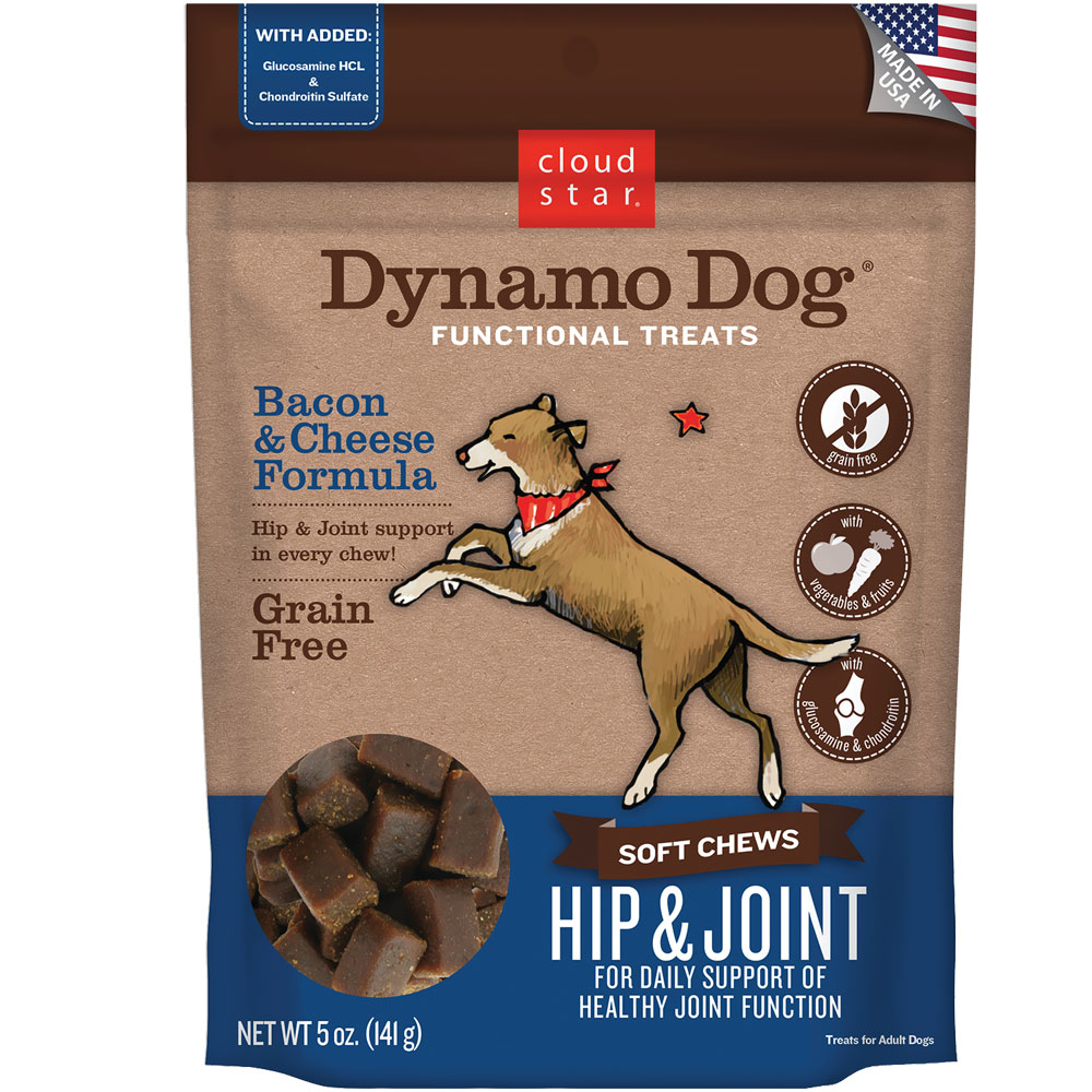 Cloud Star Dynamo Dog Functional Treats - Hip & Joint - Bacon & Cheese (5 oz) im test