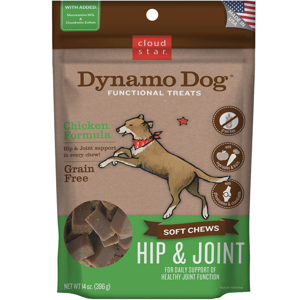 Cloud Star Dynamo Dog Functional Treats - Hip & Joint - Chicken (14 oz) im test