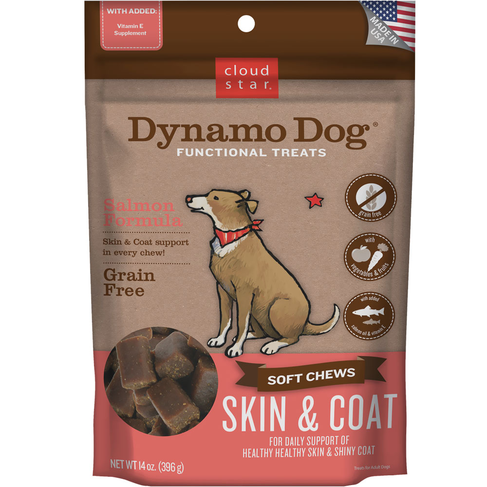 Cloud Star Dynamo Dog Functional Treats - Skin & Coat - Salmon (14 oz) im test