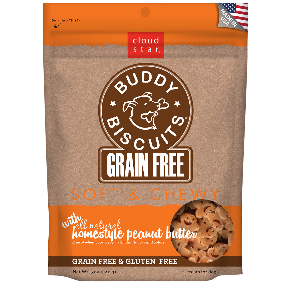 Cloud Star Buddy Biscuits Grain Free Soft & Chewy - Homestyle Peanut Butter (5 oz) im test